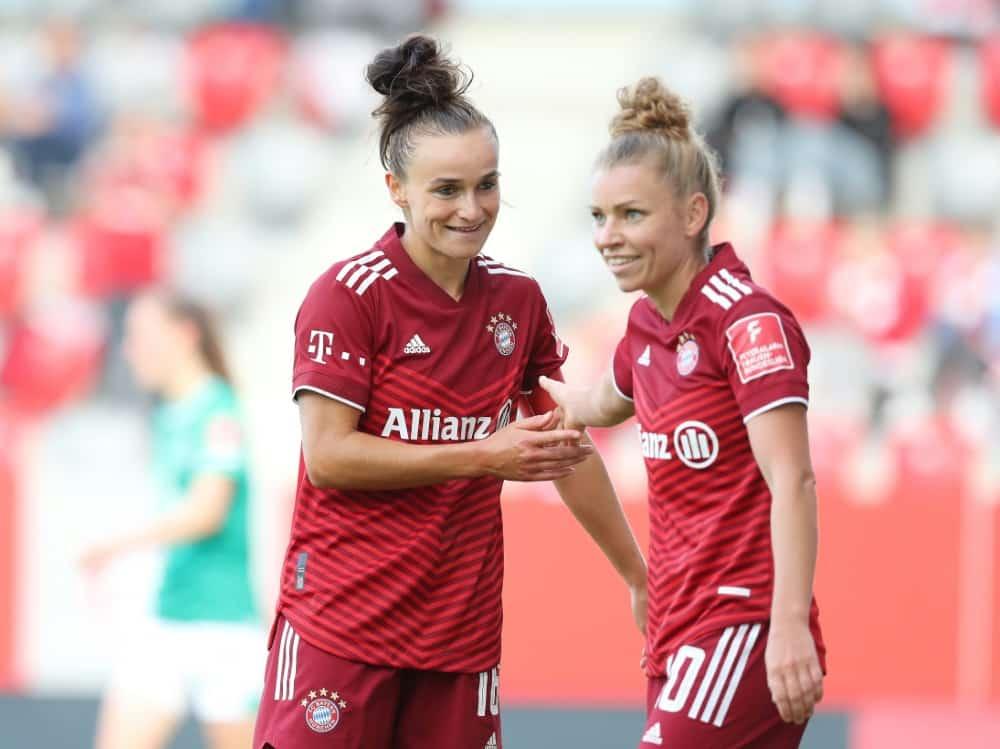 Lina Magull erzielte zwei Tore für Bayern (2./65.). ©FIRO/SID