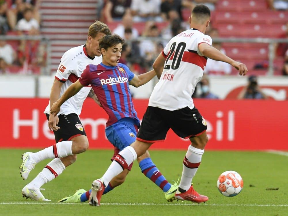 Gegen Barcelona war der VfB Stuttgart chancenlos. ©SID THOMAS KIENZLE