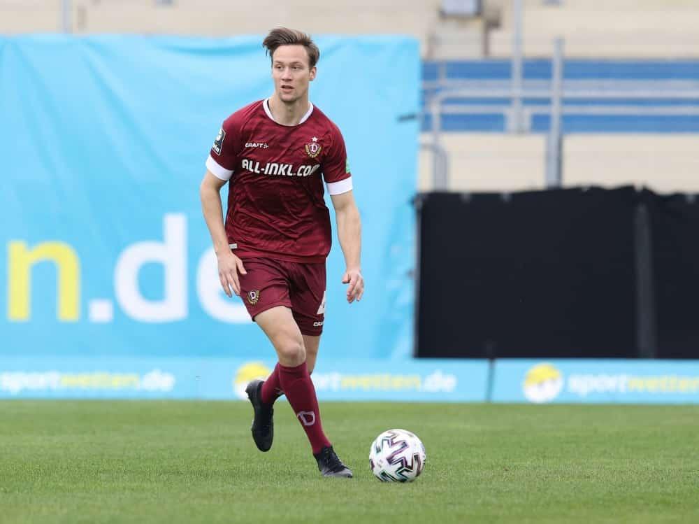 Tim Knipping spielt seit 2020 für Dynamo Dresden . ©FIRO/SID