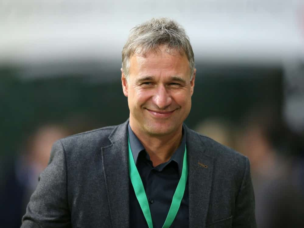 Marco Bode bleibt trotz Bundesliga-Abstieg optimistisch . ©firo Sportphoto/SID