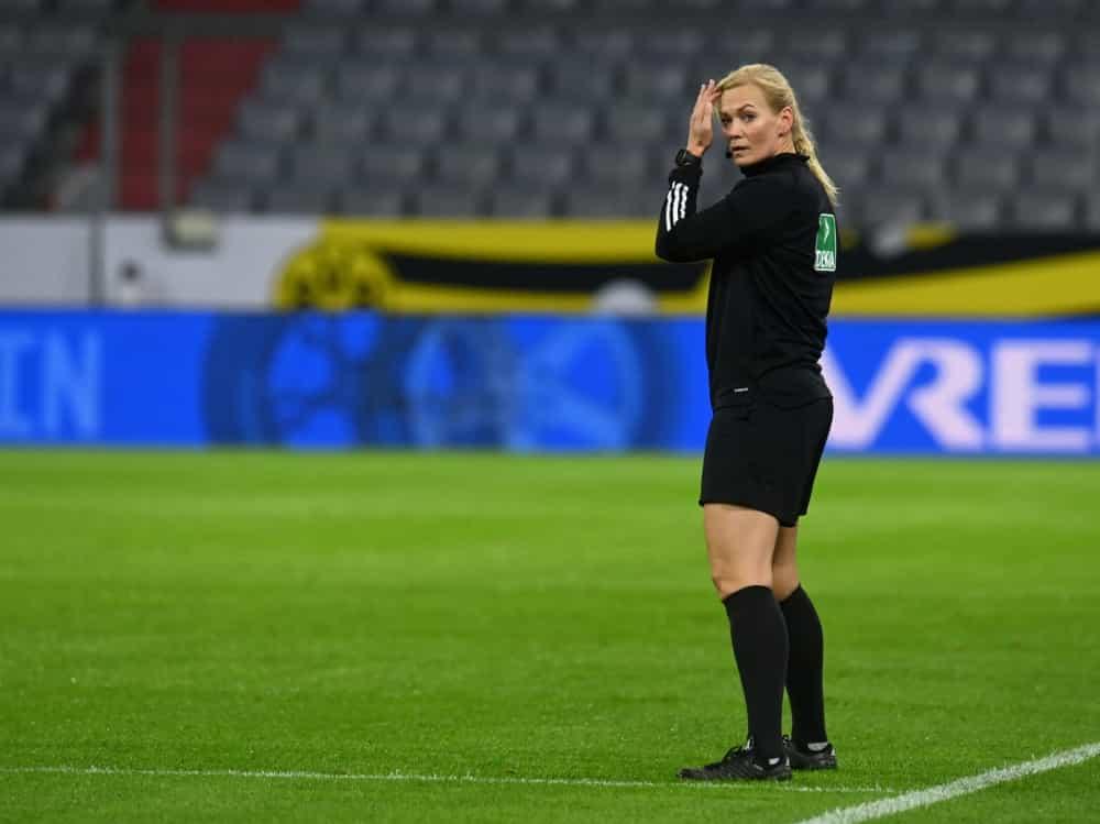 Einsatz im olympischen Finale: Bibiana Steinhaus-Webb. ©SID CHRISTOF STACHE