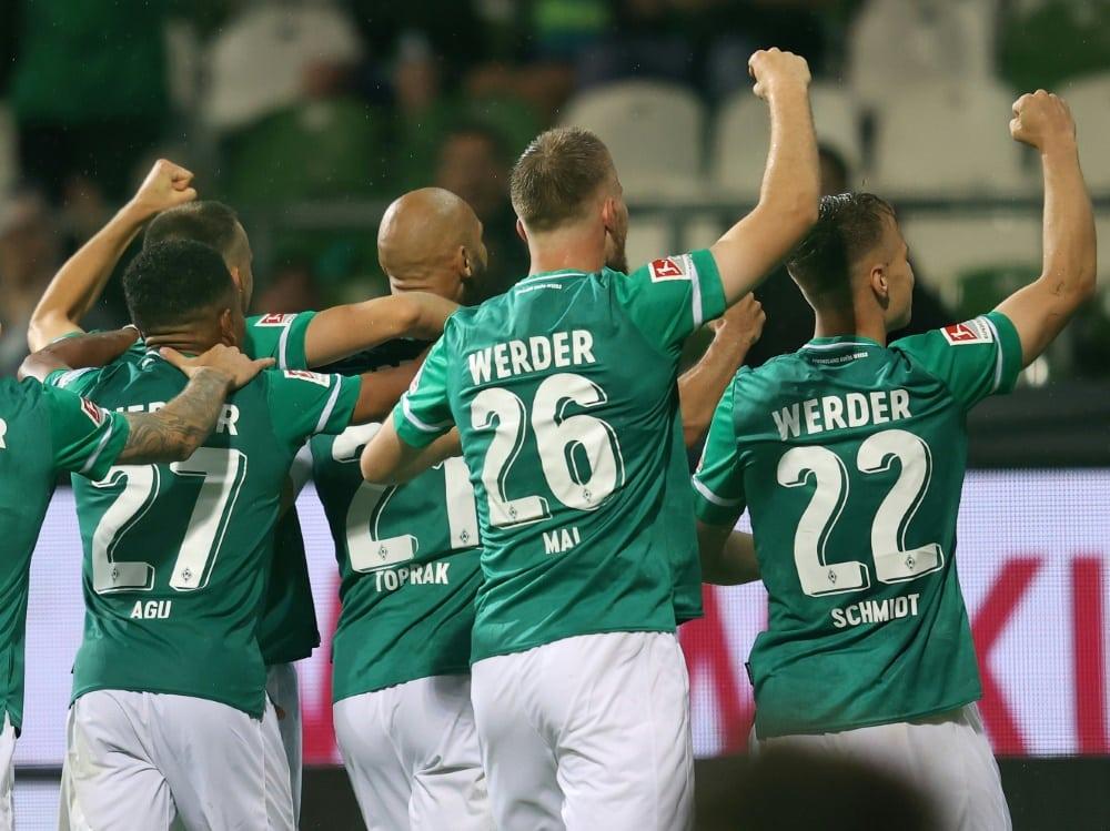 Werder setzt sich gegen Rostock durch. ©FIRO/SID
