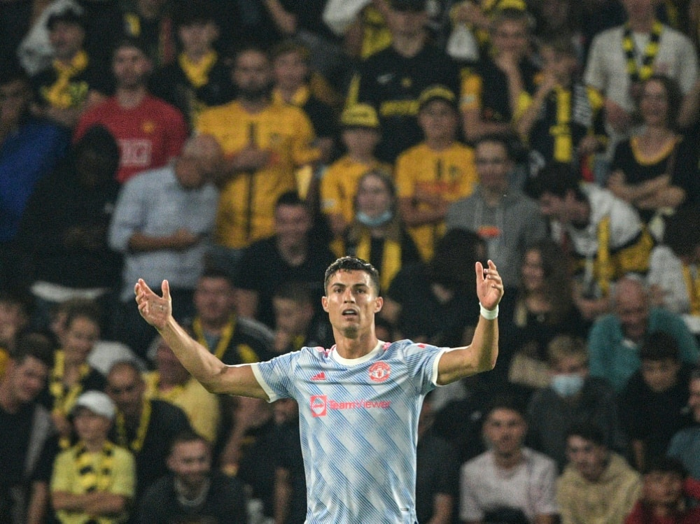 Trotz Rekordtor: Ronaldo und ManU verlieren in Bern. ©SID SEBASTIEN BOZON