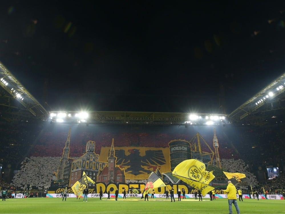 Borussia Dortmund kooperiert mit Pay-TV-Sender Sky. ©FIRO/SID