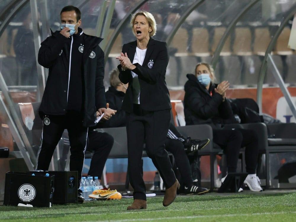 Konkurrenzkampf im DFB-Frauenteam eröffnet. ©FIRO/SID