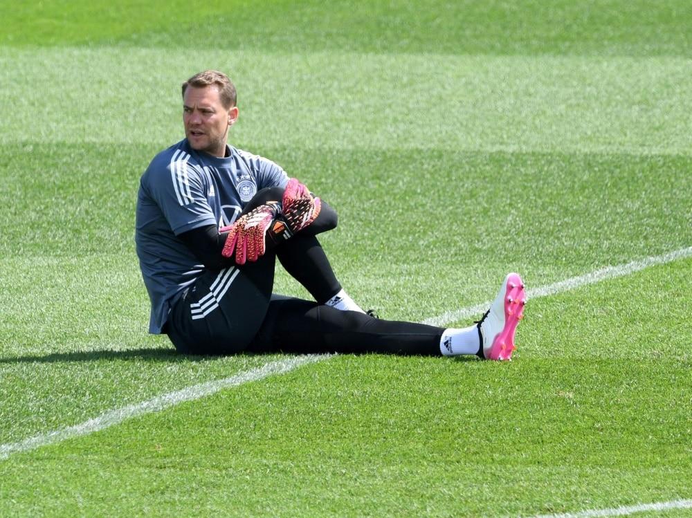 Manuel Neuer im Training der Nationalmannschaft. ©SID CHRISTOF STACHE