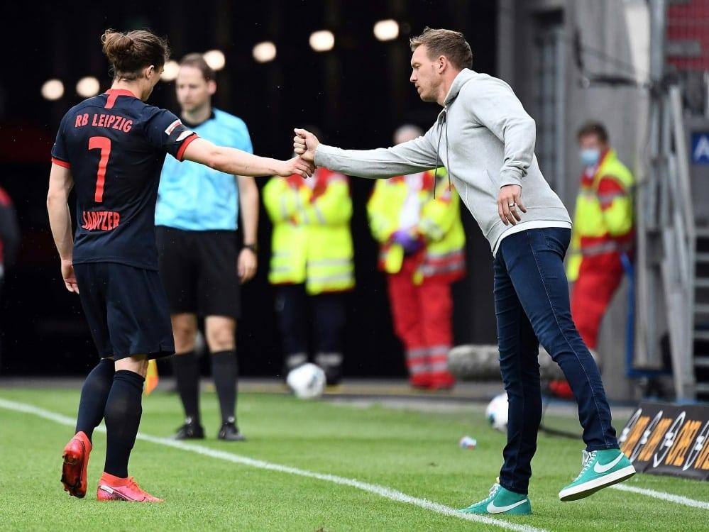 Bayern: Sabitzer mit Insider-Infos gegen Leipzig. ©FIRO/SID