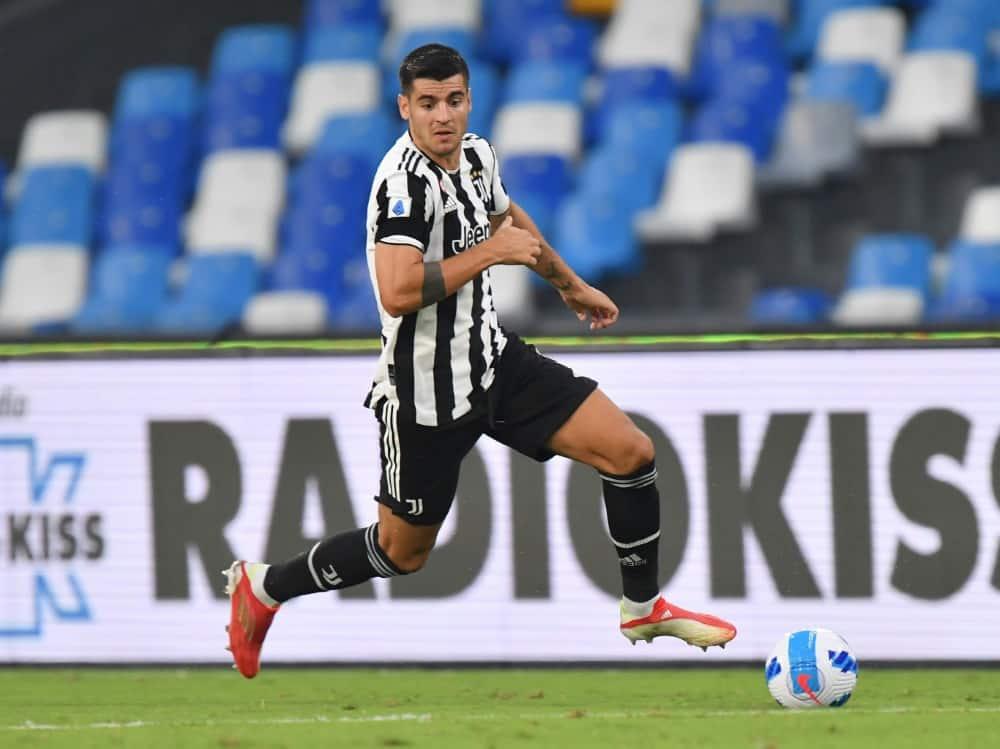 Alvaro Morata trifft zum 1:0. ©FIRO/SID