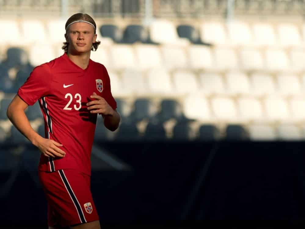 Haaland und Norwegen gewinnen mühelos gegen Lettland. ©SID JORGE GUERRERO