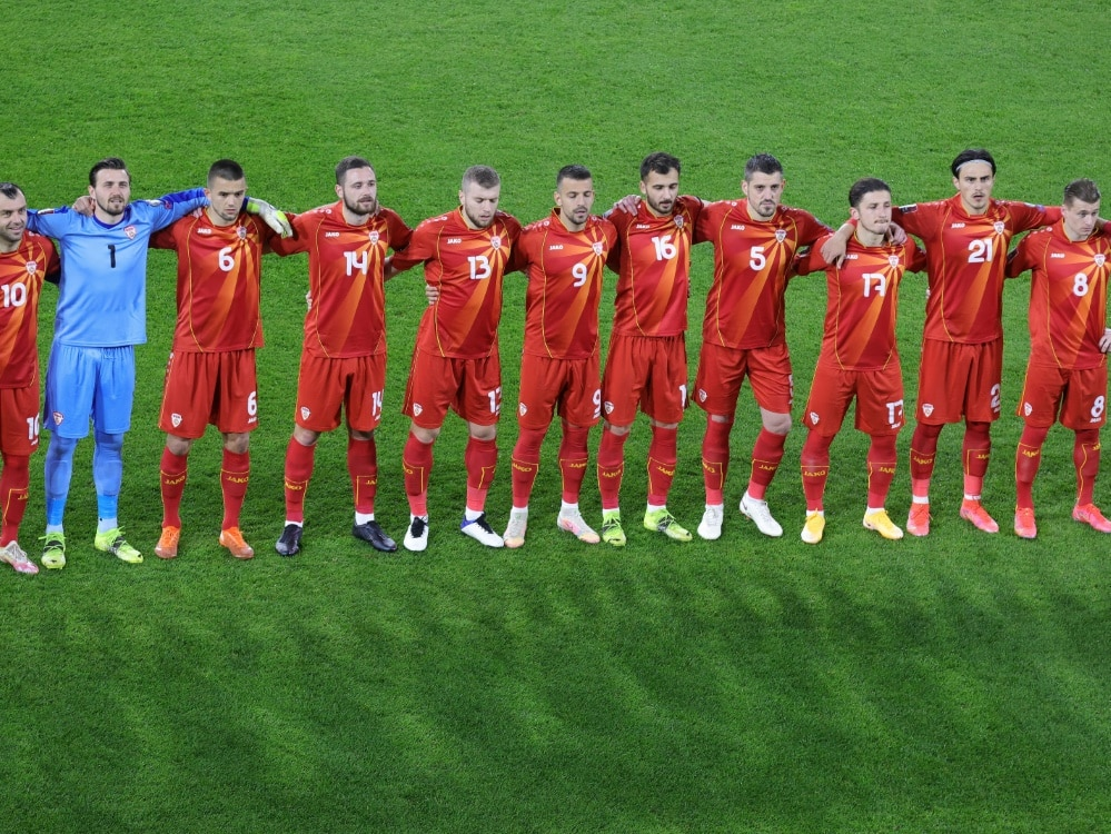 Nordmazedonien lediglich mit Remis gegen Island. ©FIRO/SID