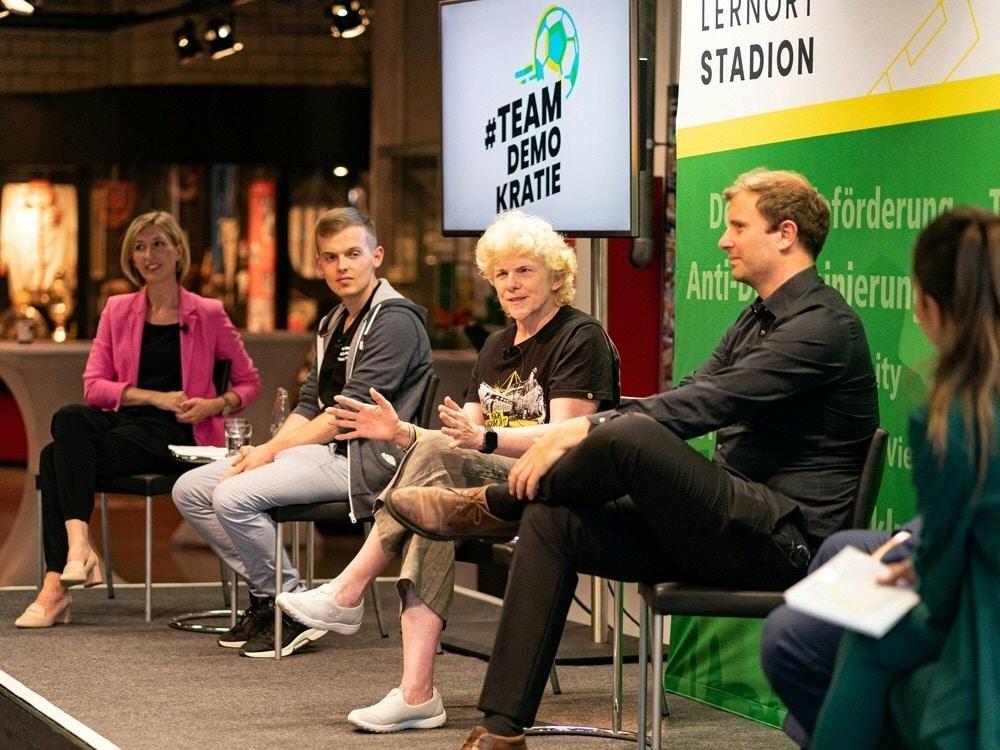 Podiumsdiskussion im Eintracht-Frankfurt-Museum. ©DFL Stiftung/Witters/DFL Stiftung/Witters