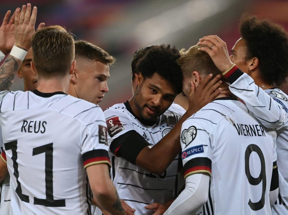 DFB-Elf gegen Island mit nur einer Veränderung. ©SID CHRISTOF STACHE
