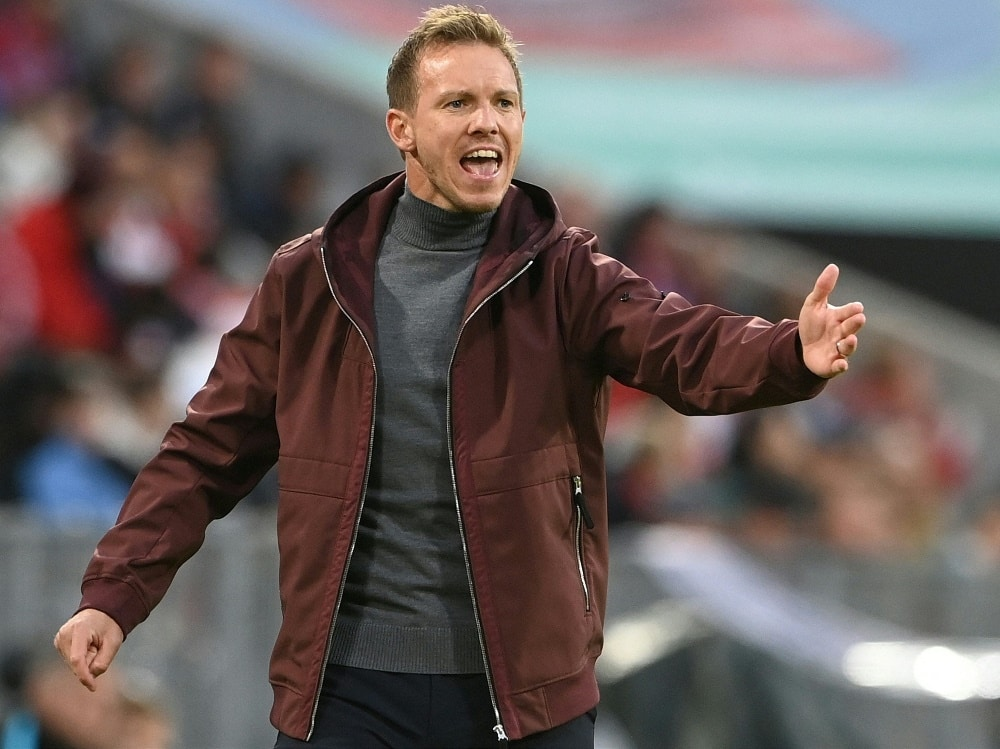 Julian Nagelsmann kehrt mit Bayern nach Leipzig zurück. ©SID CHRISTOF STACHE