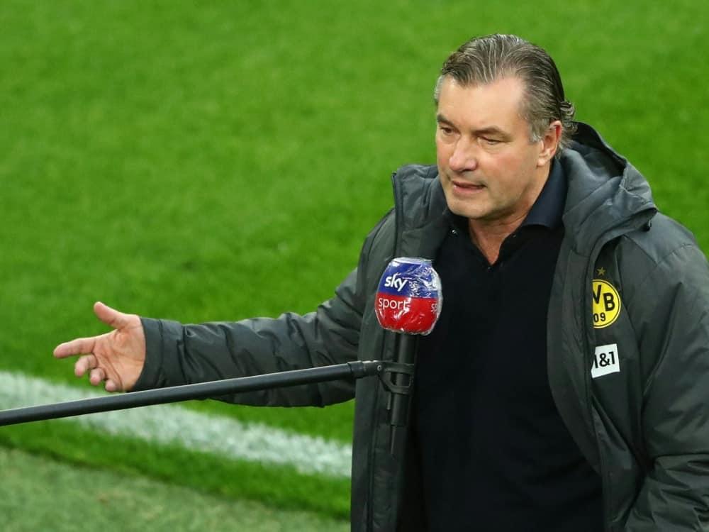 Michael Zorc hofft auf Reus-Einsatz in Leverkusen. ©SID CHRISTOF KOEPSEL