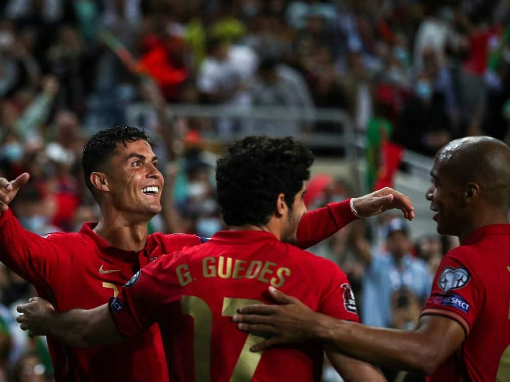 Ronaldo mit Dreierpack gegen Luxemburg. ©SID CARLOS COSTA