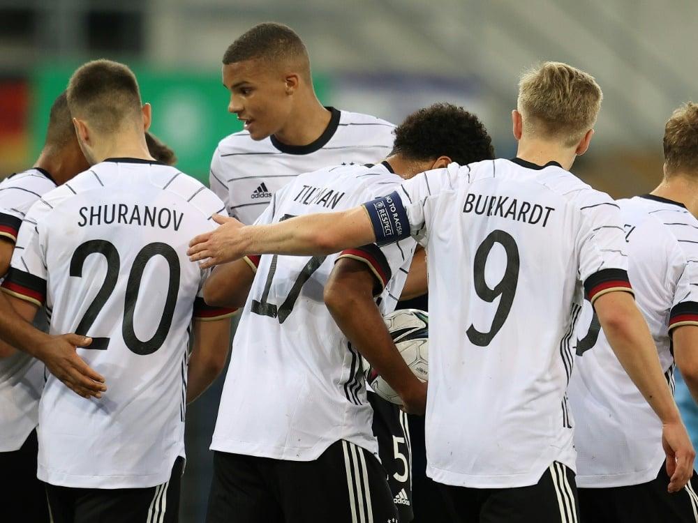 Die deutsche U21 gewinnt deutlich gegen Ungarn. ©FIRO/SID