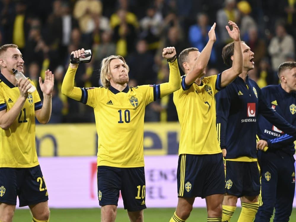 Schweden mit guter Ausgangsposition in WM-Qualifikation. ©SID JONATHAN NACKSTRAND