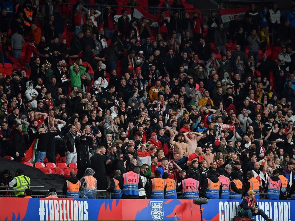 Beim Länderspiel in Wembley kam es zu Ausschreitungen. ©SID BEN STANSALL