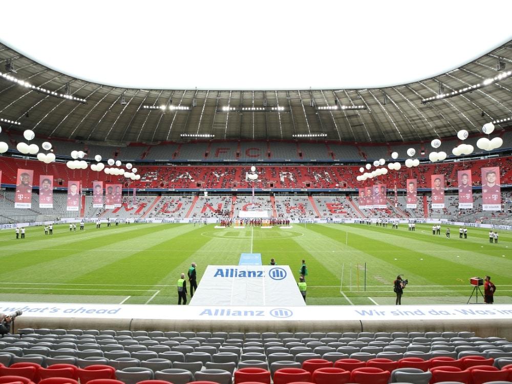 Die Allianz Arena darf wieder voll ausgelastet werden. ©FIRO/SID
