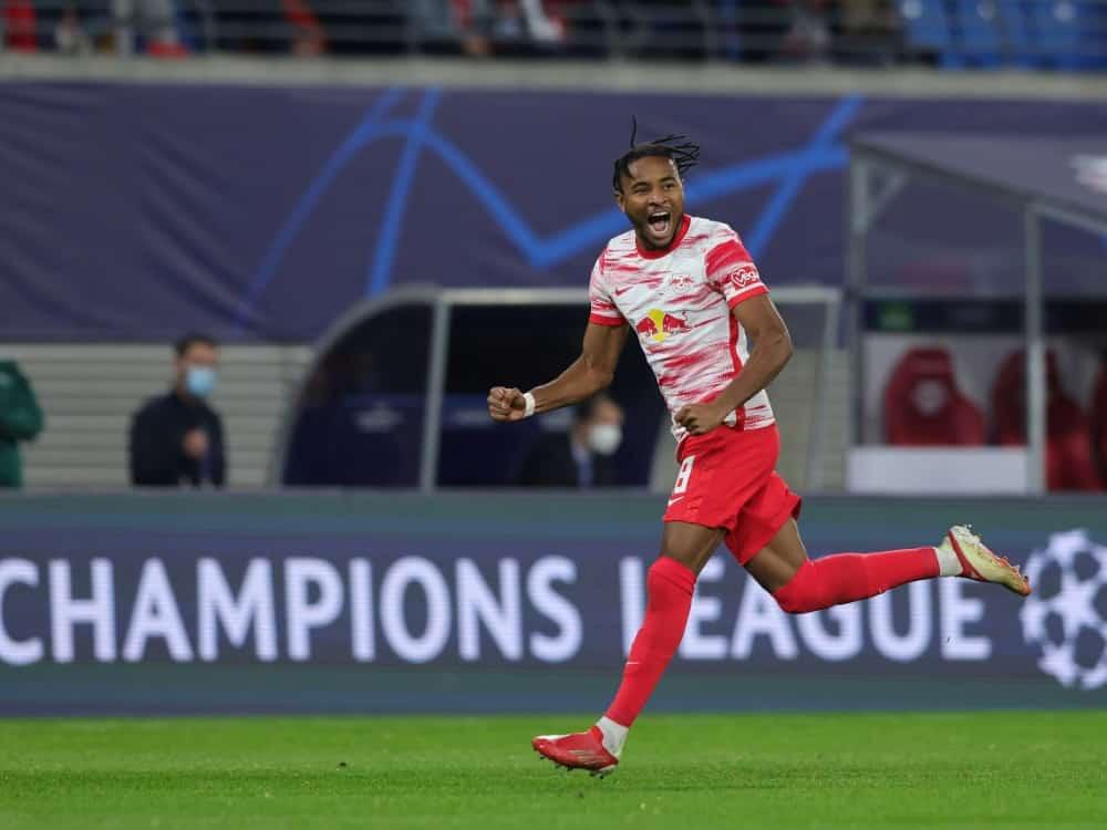 Gegen Bochum doppelt erfolgreich: Christopher Nkunku. ©FIRO/SID